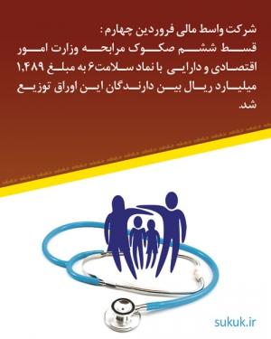 قسط ششم صکوک مرابحه وزارت امور اقتصادی و دارایی  با نماد سلامت6